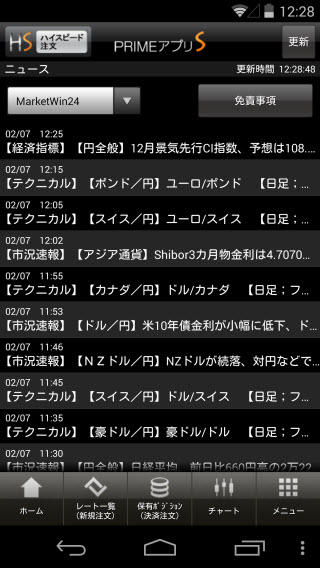 FXプライム byGMO[選べる外貨]Androidニュース画面