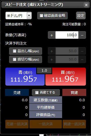 松井証券[NetFx](スピード注文系システム)