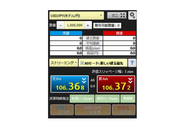 マネーパートナーズ[パートナーズFXnano](スピード注文系システム)