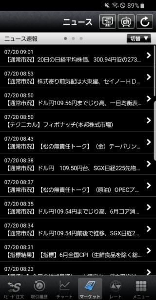 外為どっとコム[外貨ネクストネオ]Androidニュース画面