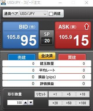 GMOクリック証券【くりっく365】(スピード注文系システム)