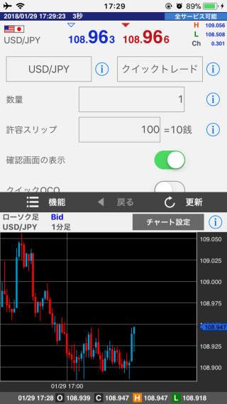 FXブロードネット[ブロードライトコース]、[ブロードコース]iPhone注文画面