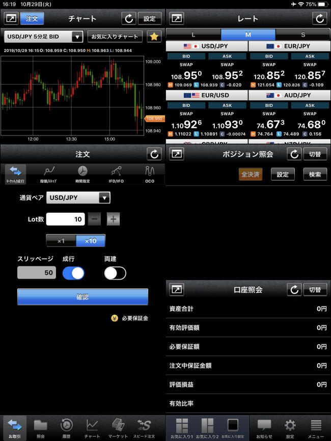 外為どっとコム[外貨ネクストネオ]iPadTOP画面