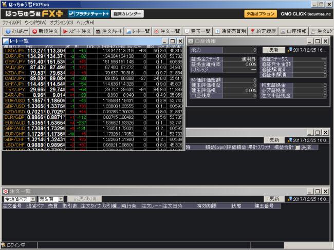 GMOクリック証券[FXネオ](取引画面全体)