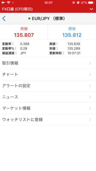 IG証券[大口][標準]iPhone注文画面
