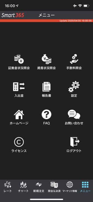 インヴァスト証券【くりっく365】TOP画面