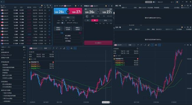 auカブコム証券[auカブコムFX](取引画面全体)