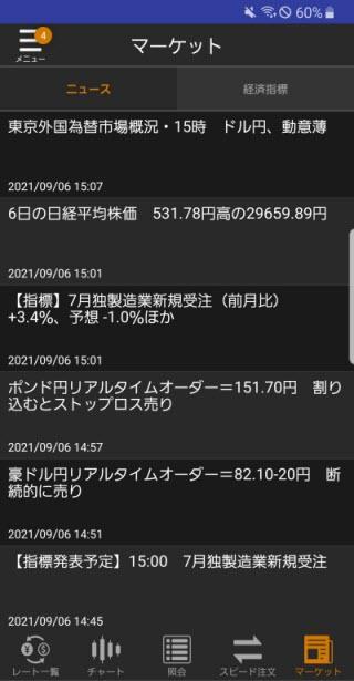 松井証券[松井証券 MATSUI FX]Androidニュース画面