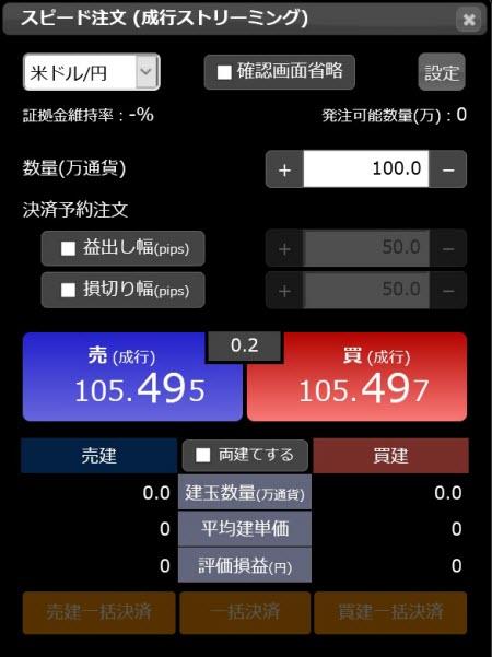 松井証券[松井証券 MATSUI FX](スピード注文系システム)
