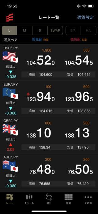 岡三オンライン証券【くりっく365】iPhoneTOP画面