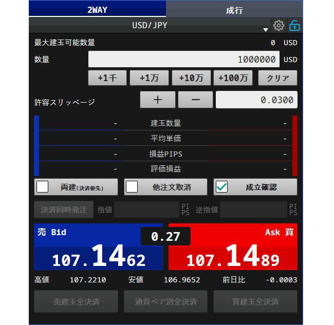 SBIFXトレード[SBIFXTRADE](スピード注文系システム)