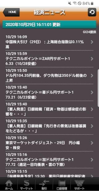 上田ハーロー[外貨アクティブ]Androidニュース画面